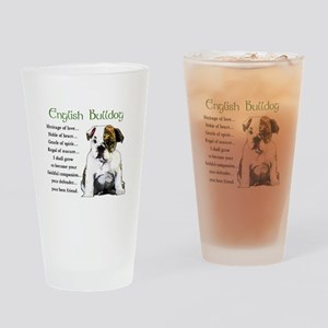 English Bulldog Pint Glass