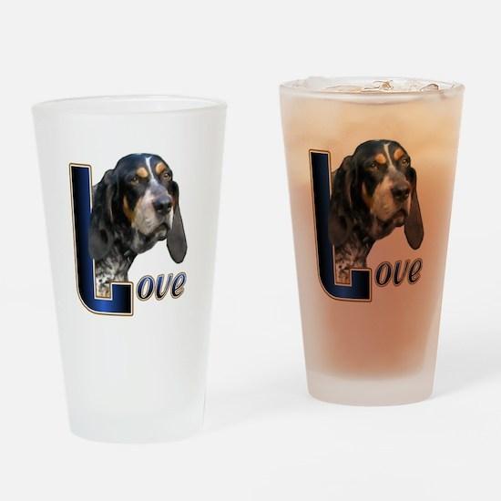 Bluetick Coonhound Love Drinking Glass