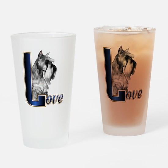 Miniature Schnauzer Love Drinking Glass