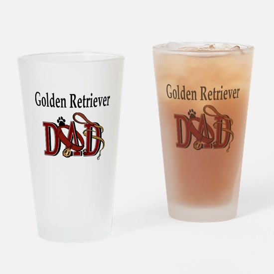 Golden Retriever Dad Pint Glass