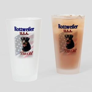Rottweiler USA Pint Glass