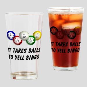 Balls to Bingo Drinking Glass