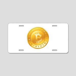 Bitcoins-1 Aluminum License Plate