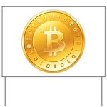 Bitcoins-1 Yard Sign