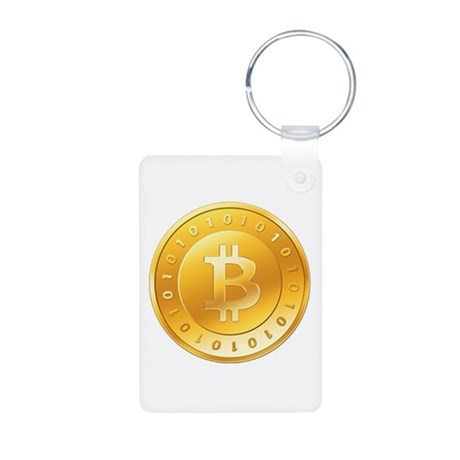 Bitcoins-1 Aluminum Photo Keychain