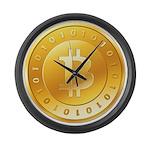 Bitcoins-1 Large Wall Clock