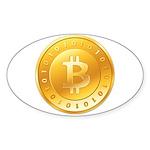 Bitcoins-1 Sticker (Oval 10 pk)