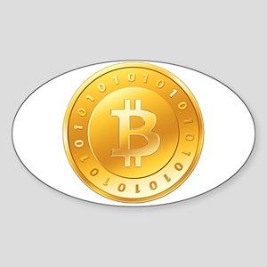 Bitcoins-1 Sticker (Oval)