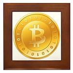 Bitcoins-1 Framed Tile