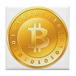 Bitcoins-1 Tile Coaster