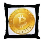 Bitcoins-1 Throw Pillow