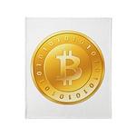 Bitcoins-1 Throw Blanket