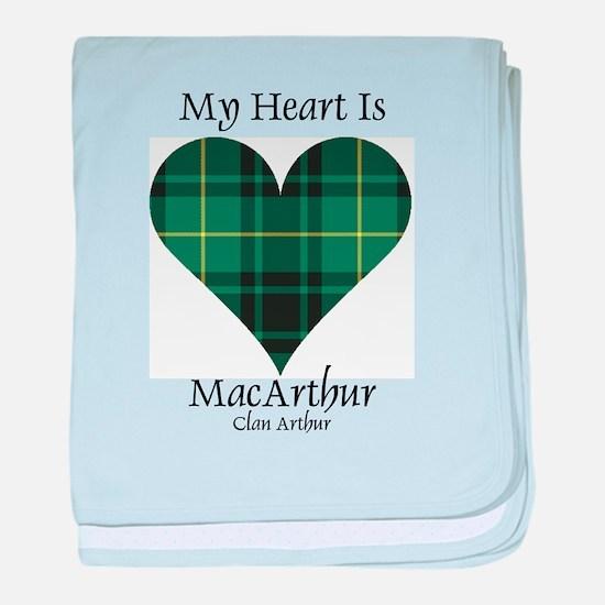 Heart - MacArthur baby blanket