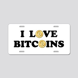 Bitcoins-2 Aluminum License Plate