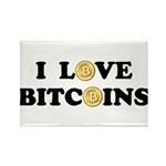Bitcoins-2 Rectangle Magnet (100 pack)