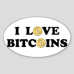 Bitcoins-2 Sticker (Oval)