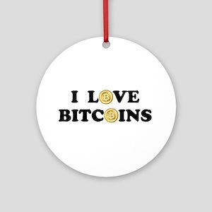 Bitcoins-2 Ornament (Round)