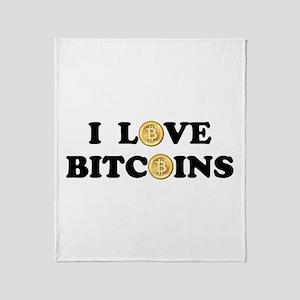 Bitcoins-2 Throw Blanket