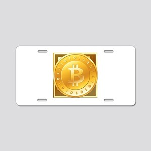 Bitcoins-3 Aluminum License Plate