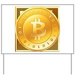 Bitcoins-3 Yard Sign