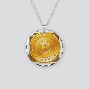 Bitcoins-3 Necklace Circle Charm