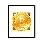 Bitcoins-3 Framed Panel Print