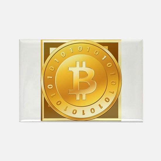 Bitcoins-3 Rectangle Magnet