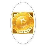 Bitcoins-3 Sticker (Oval 10 pk)