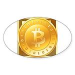 Bitcoins-3 Sticker (Oval)