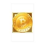 Bitcoins-3 Sticker (Rectangle 10 pk)