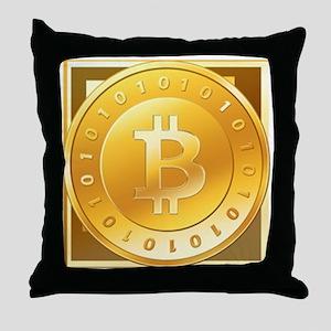 Bitcoins-3 Throw Pillow