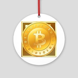 Bitcoins-3 Ornament (Round)