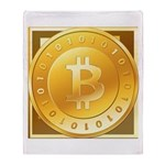 Bitcoins-3 Throw Blanket