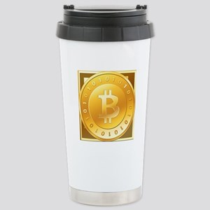 Bitcoins-3 Stainless Steel Travel Mug