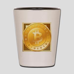 Bitcoins-3 Shot Glass