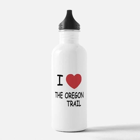 I heart the oregon trail Water Bottle