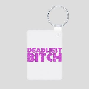 Deadliest Bitch Aluminum Photo Keychain