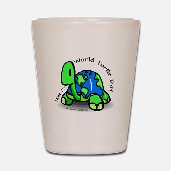 World Turtle Day Shot Glass