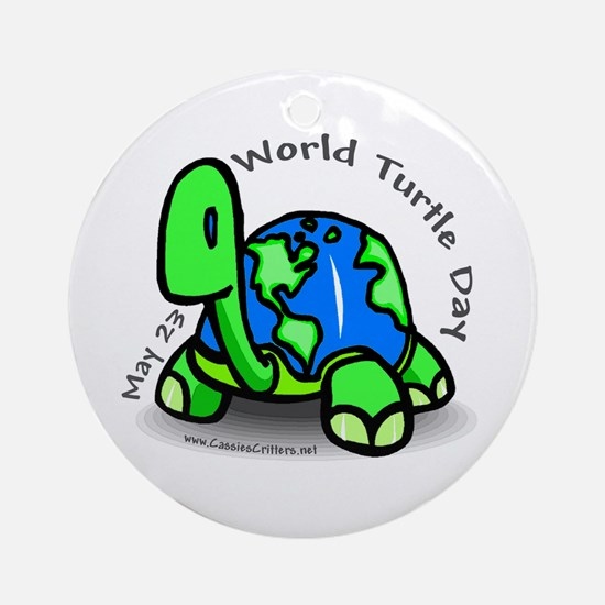 World Turtle Day Ornament (Round)