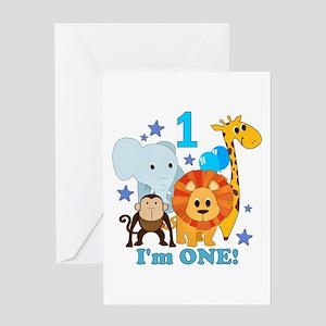 First Birthday Jungle Greeting Card