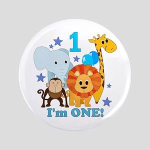 "First Birthday Jungle 3.5"" Button"
