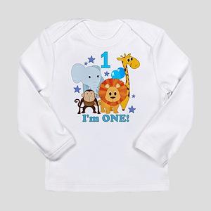 First Birthday Jungle Long Sleeve Infant T-Shirt
