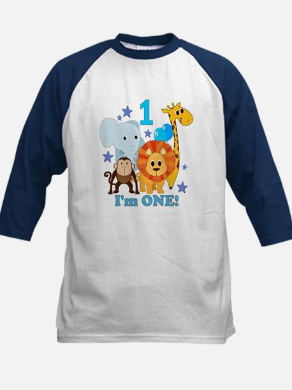 First Birthday Jungle Kids Baseball Jersey