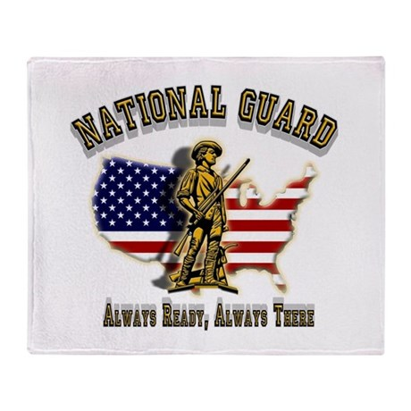 National Guard Always Ready Throw Blanket