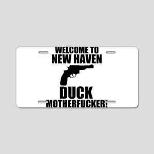 Welcome To New Haven Duck Mot Aluminum License Pla
