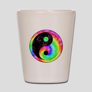 Rainbow Spiral Yin Yang Shot Glass