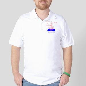 Fourth of July Food Pyramid Golf Shirt