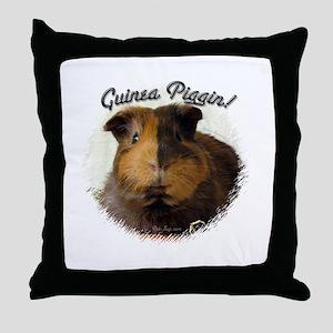 Guinea Piggin Throw Pillow