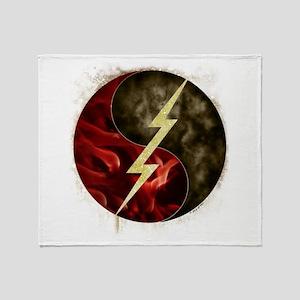 Lightning, Smoke and Flames! Throw Blanket