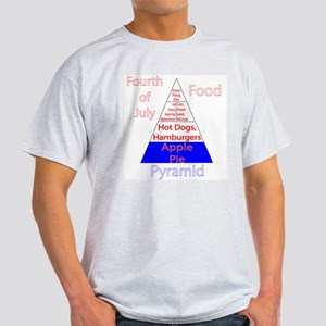 Fourth of July Food Pyramid Light T-Shirt